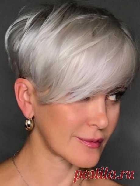 Стильные стрижки для женщин за 60 — какие средства применять, чтобы прическа красиво смотрелась   Мода в деталях   Яндекс Дзен