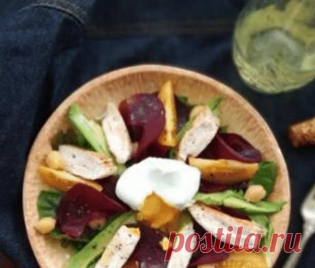 Салат с печеной свеклой, куриной грудкой и яицом пашот рецепт – европейская кухня: салаты. «Еда»