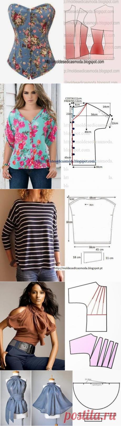 Летние юбки и блузы с простыми выкройками   Рукоделие