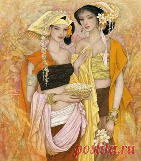 Девушки Азии  - сбор пазла Лучшая коллекция пазлов для взрослых и детей: собирайте и создавайте свои собственные пазлы.