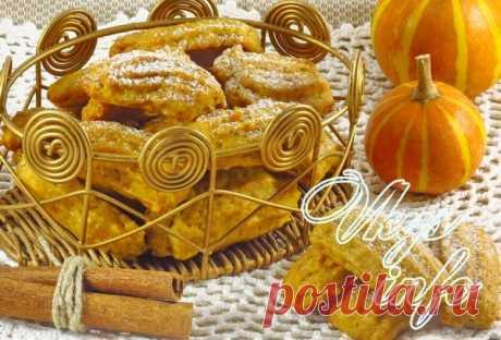 Печенье из тыквы и овсяных хлопьев постный рецепт с фото