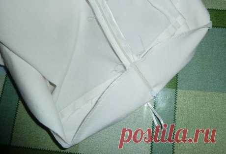 Потайная молния в изделиях с обтачкой вместо пояса