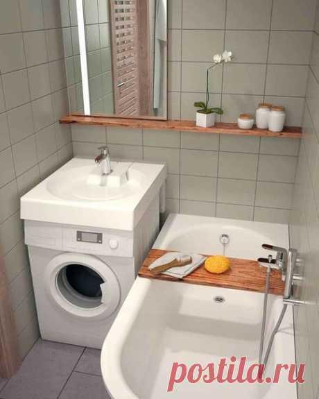 Дизайн маленькой ванной .