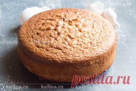 Бисквит для торта: получается всегда (самый простой, НЕ ОПАДАЕТ, хорошо разрезается, не крошится)
