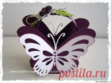 Корзиночка-бабочка