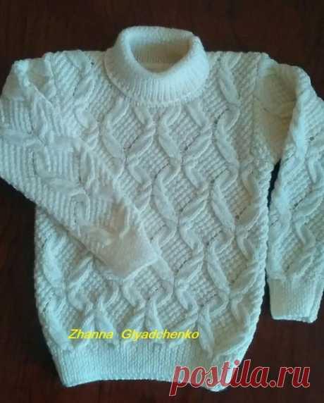 Новая работа. Детский свитерок из Alize baby wool. Изделие отправляется к своей маленькой хозяйке в г. Львов. #zanna #вяжуназаказ #вяжуслюбовью #свитерспицами #модаистиль #моднаяодежда