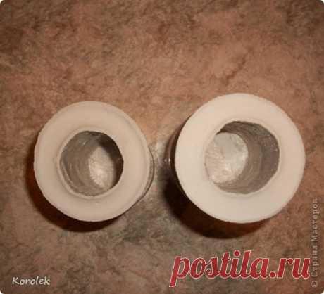 Симпатичные вазочки своими руками из гипса и пластиковых бутылок — Сделай сам, идеи для творчества - DIY Ideas