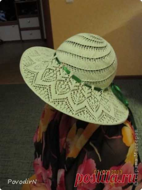 Openwork summer hat