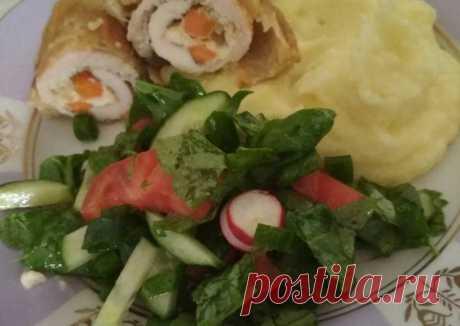 (5) Куриные рулетики с сыром и морковью - пошаговый рецепт с фото. Автор рецепта Татьяна Кулинкович . - Cookpad
