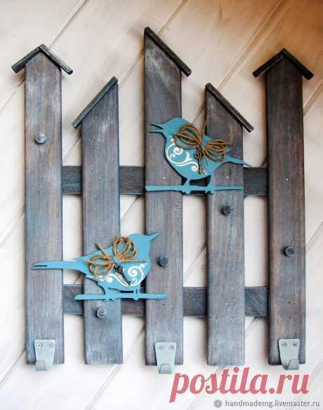 Ключница настенная. Птицы на заборе – купить на Ярмарке Мастеров – AP7HBRU | Ключницы, Москва