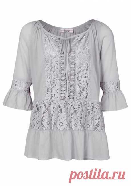 Блузка цвет: серый арт: 92404263 купить в Интернет магазине Quelle за 3199.00 руб - с доставкой по Москве и России