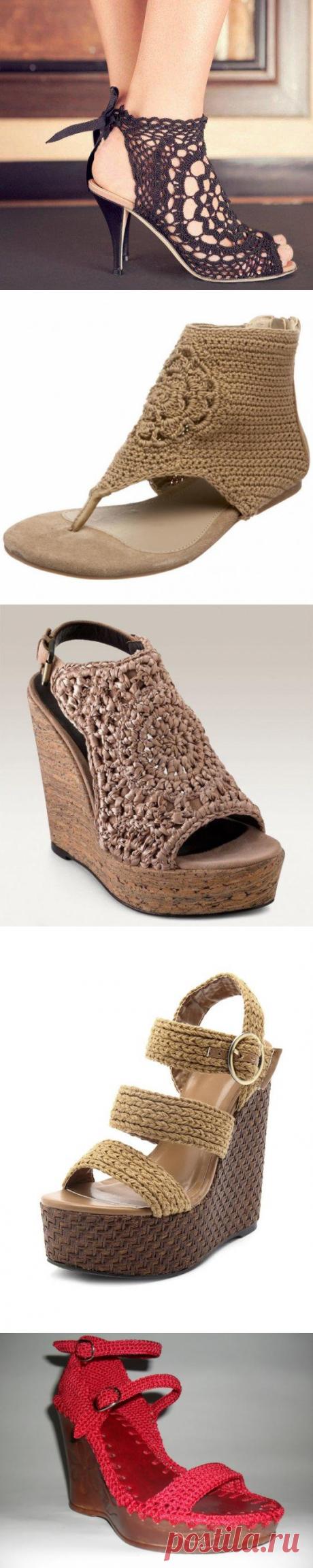 Вязаная летняя обувь - Ярмарка Мастеров - ручная работа, handmade