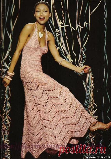 Как хорошо уметь вязать: Платье зигзагом...