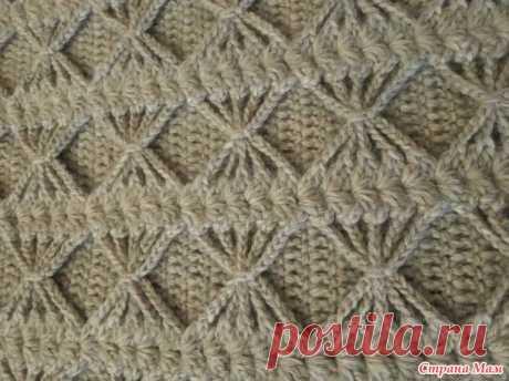 Объемный плед - одеяло (крючок) - Вязание - Страна Мам
