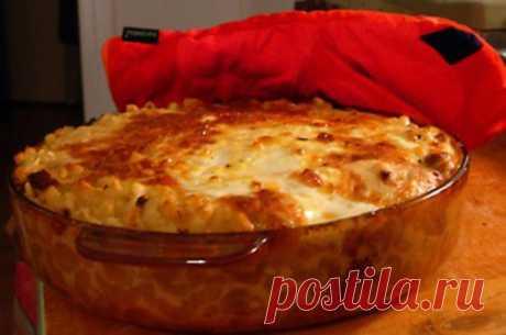 Рисовая запеканка с луковым соусом и пшеном / Простые рецепты