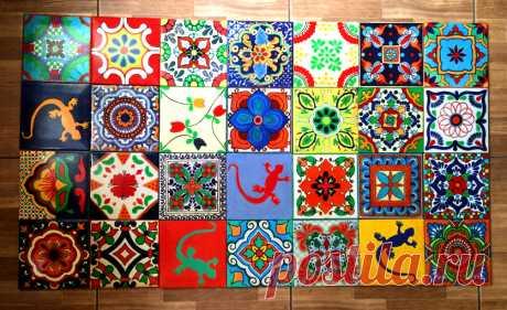 талавера, мексиканская плитка, плитка ручной работы | мексиканская керамическая плитка | Постила