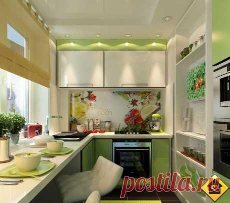 Проект кухни на 6 кв. м