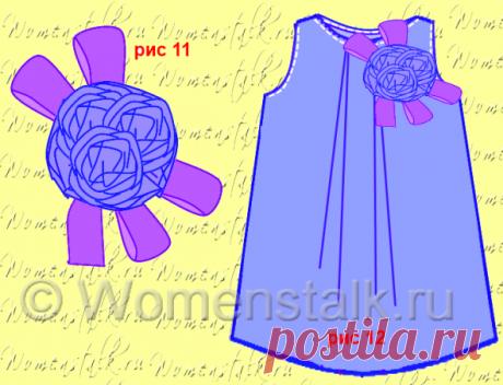 Цветы из ткани на платье – просто и быстро. Часть 1. Женские разговоры |