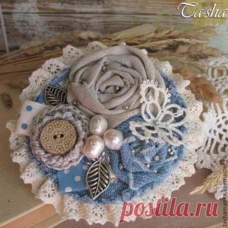 Текстильные броши в стиле бохо