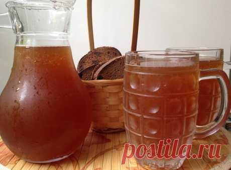 Рецепт освежающего, резковатого кваса, который летом продают в бочках Освежающий, резковат и очень вкусный!
