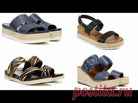 LATEST VERY STYLISH ESPADRILLES WEDGE SANDALS||Espadrilles for Women||Famous Footwear's collections