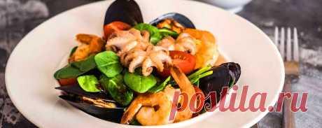 Теплый салат с морепродуктами и апельсиновым соусом • Пошаговый рецепт Теплый салат с морепродуктами и апельсиновым соусом — пошаговый рецепт приготовления с подробным описанием. Как приготовить дома и сделать вкусно и просто