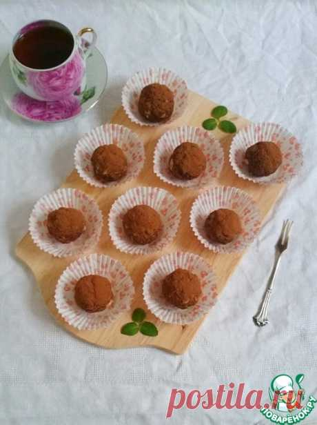 """Пирожное """"Шоколадные шарики"""" с орехами - кулинарный рецепт"""