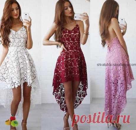 Платье ленточным кружевом Платье ленточным кружевом крючком. Ажурное вечернее летнее платье крючком