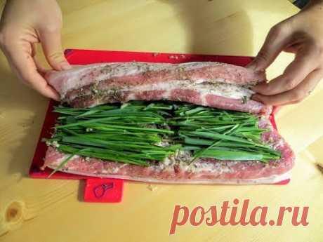 Заверните зелень в грудинку и вы перестанете покупать колбасу в магазине / Это лучше колбасы