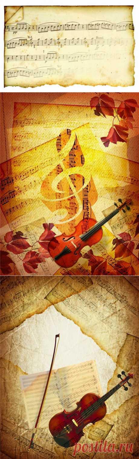 Музыкальные фоны для декупажа.