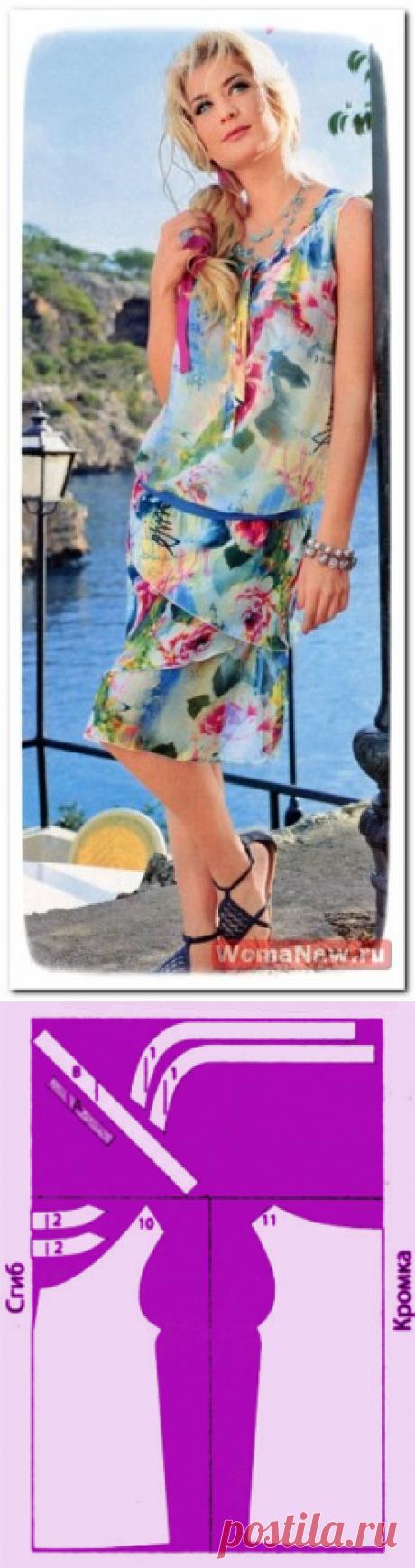 Бесплатная выкройка летней блузки | WomaNew.ru - уроки кройки и шитья