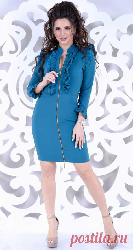 Эффектное изумрудное платье на змейке № 3449 - Платье норма 42-48 - Модные вечерние платья: купить недорого у производителя в розницу, доставка по Украине | Lemanta.com