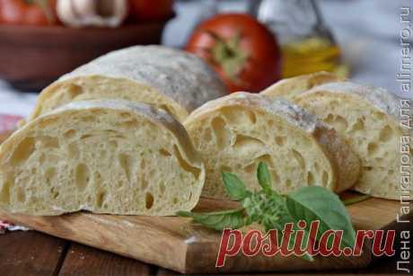 👌 Чиабатта итальянский белый хлеб, рецепты с фото Вкусный рецепт Чиабатта итальянский белый хлеб, пошаговый, с фото и отзывами 👍 Итальянская кухня, Постные блюда, Чиабатта, Что можно сделать из муки, Постная выпечка, Белый хлеб, Итальянская выпечка