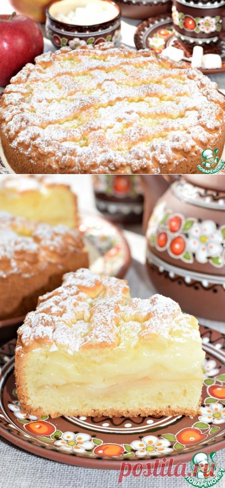 """Пирог с яблоками """"Нежный"""" – кулинарный рецепт"""