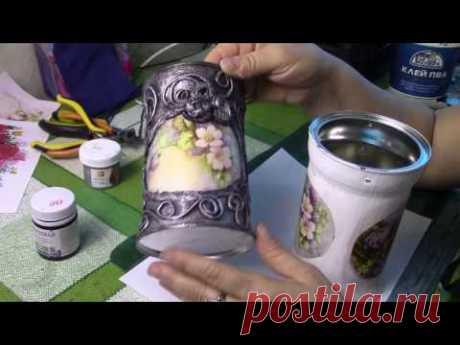 El vederki-florero de las latas por las manos. ХоббиМаркет#20 la salida