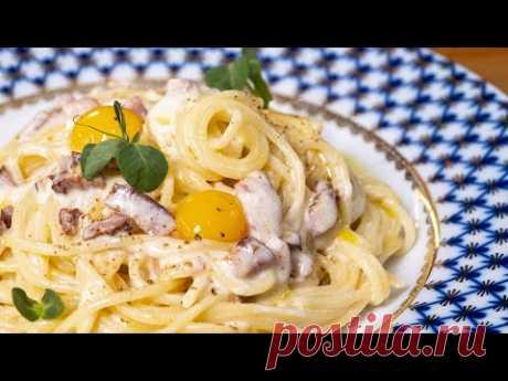 Как они до этого додумались? Это лучшее блюдо итальянской кухни. Паста Карбонара