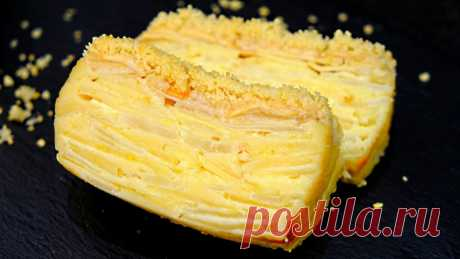 Видите ТЕСТО? При выпечке оно превращается в КРЕМ! Пирог «Невидимка» с яблоками и грушами — Кулинарная книга