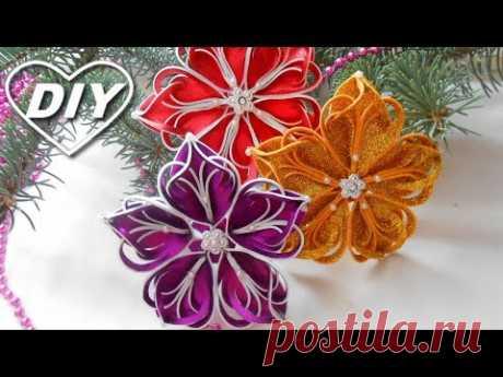 СНЕЖИНКА 3D из фома своими руками/Christmas tree decor from foam EVA/Decoração de natal em EVA