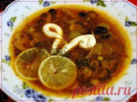 Mushroom solyanka home-style – the dish prepared according to this recipe, advantage...