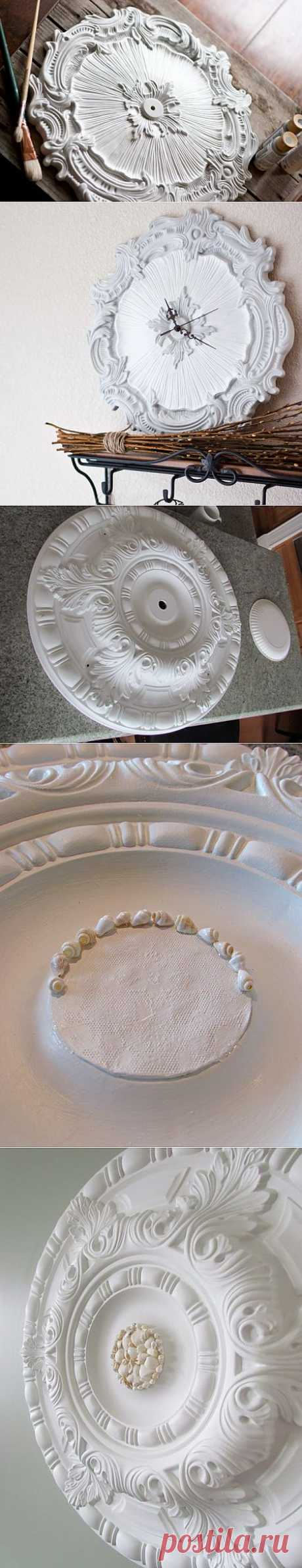 Четыре МК по созданию декора из потолочных розеток.