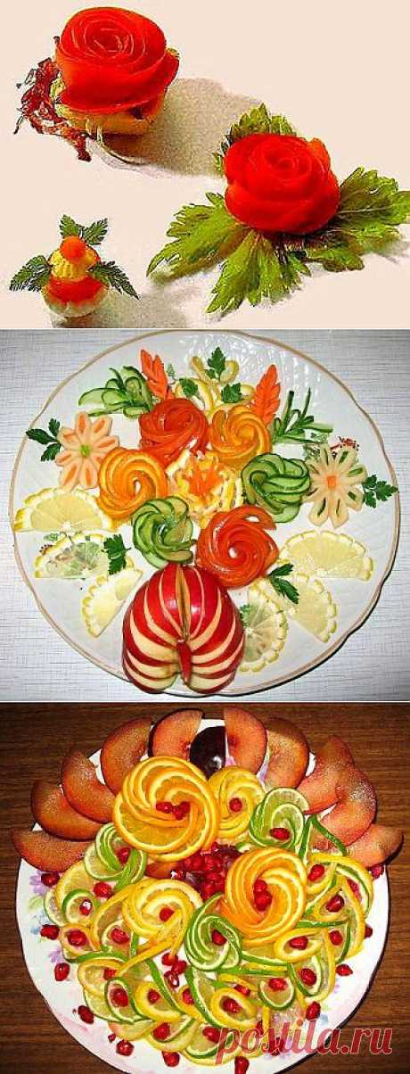 DECORATION of DISHES: Recipes, step-by-step photos - 10.
