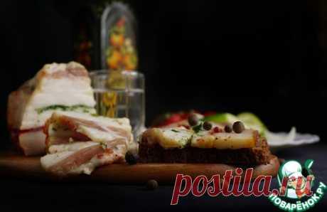 Ароматное слоеное сало - кулинарный рецепт