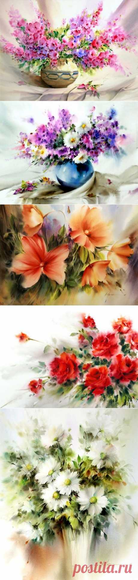 Water color of the artist of Mohammad Yazdchi.