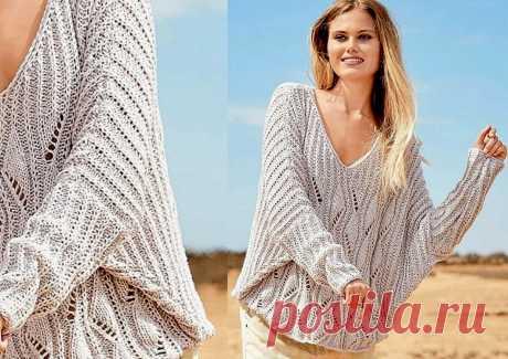 Осень близко: вяжем нарядные джемперы и пуловеры спицами | Paradosik_Handmade | Яндекс Дзен