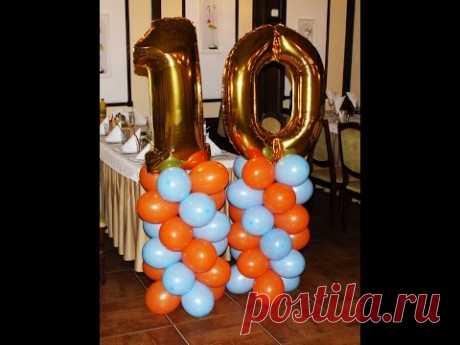 Фигуры из воздушных шаров, фольгированные цифры