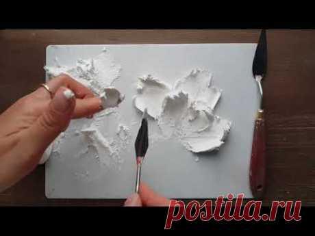 Video von Tatiana Letto auf youtube  · · · Подробный мастер класс. Объемная картина из декоративной штукатурки. - YouTube