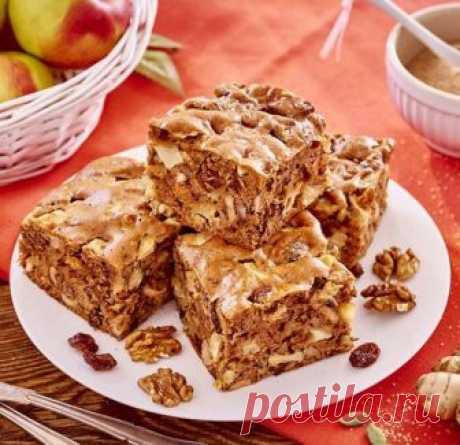 Быстрый пирог Белочка с яблоками, орехами и изюмом | просто здорово! | Яндекс Дзен