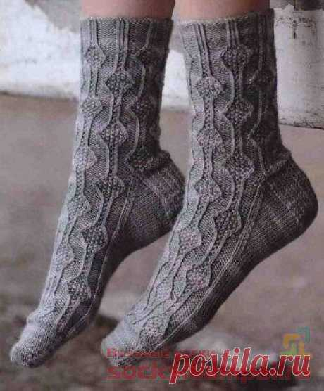 Вязаные носки «Чертополох»   ВЯЗАНЫЕ НОСКИ