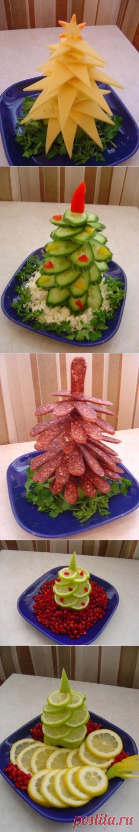 Аппетитные ёлочки к новогоднему столу