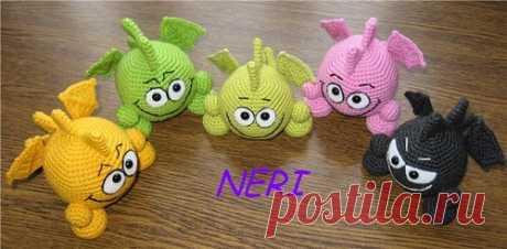 Smaylo-drakon — Knitted toys. Amigurumi of all countries, unite